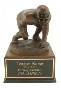 Large 3 Point Lineman Fantasy Football Trophy Perpetual # 24