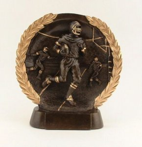 Round Relief Sculpture Fantasy Football Awards, Keeper Trophies