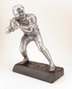 Huge Quarterback sculpture fantasy football trophies Awards