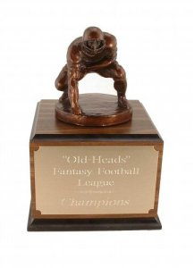 Fantasy Football Trophy # 5 Lineman Down Awards