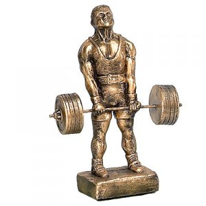 "Deadlift 16"" Weightlifting Powerlifting Sculpture Trophies"