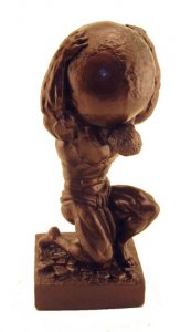 Atlas Sculpture 15.5 inch Bodybuilding Statue Trophies
