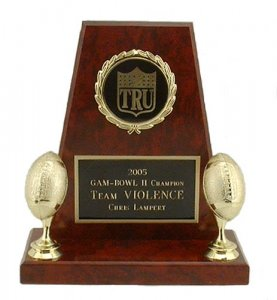 Mini RedStone Award Fantasy Football Trophies Keeper Trophy