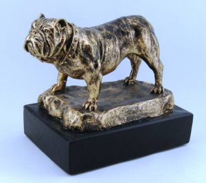 Bulldog Trophy Award Sculpture Mascot
