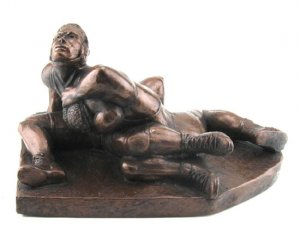 Wrestling Trophies Plate Wrestlers Sculpture Statue