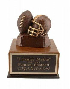 BronzeTone Helmet and Ball Fantasy Football Trophies # 14