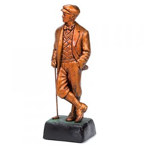 Old Grandad Golf Trophy Vintage Style Golf Sculpture