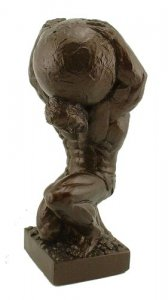 "Atlas Sculpture 12"" Weightlifting Powerlifting Statue Trophy"