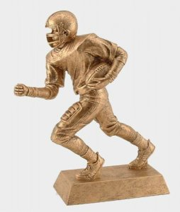 Large Football Receiver Sculpture Fantasy football trophies