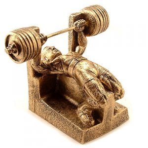 Bench Press Weightlifting Powerlifting Sculpture Trophy