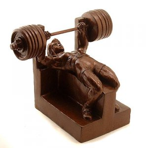 Female Bench Press Weightlifting Powerlifting Sculpture Trophy