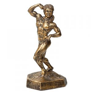 Female Single Biceps 16 inch Bodybuilding Sculpture Trophies