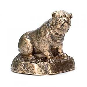 Bulldog Trophy Sculpture Mascot Award