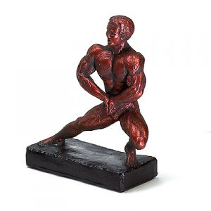 Side Lunge 11.5 inch Bodybuilding Sculpture Trophy