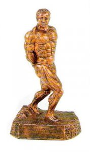 Standing Back 17 inch Bodybuilding Sculpture Trophy