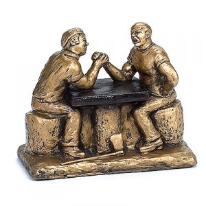 Arm Wrestling Trophies Loggers Sculpture Lumberjack Award
