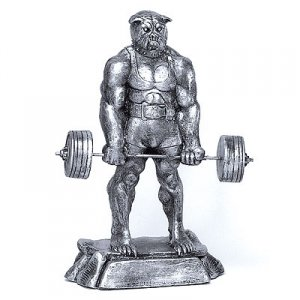 "Bad Dog Deadlift 20"" Weightlifting Powerlifting Sculpture Trophy"
