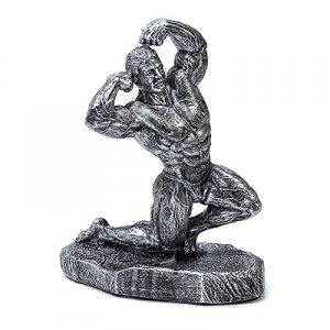Kneeling Double Biceps 13 inch Bodybuilding Sculpture Trophies