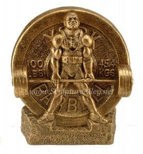 Deadlift Trophy Weightlifting Powerlifting Sculpture Trophies