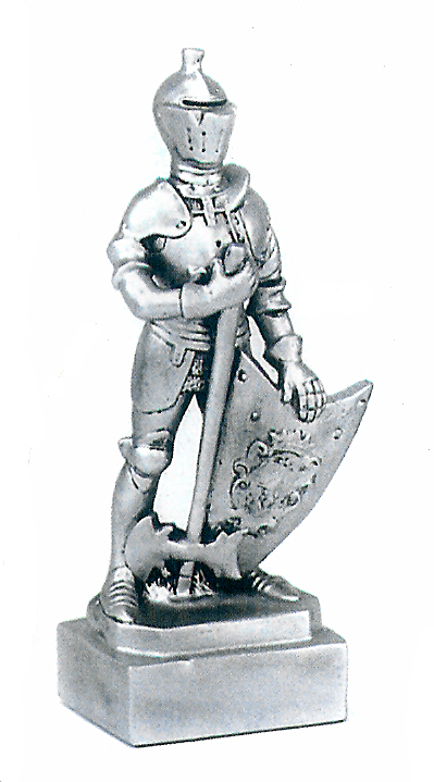 Knight In Armor Sculpture Trophy Mascot H29 32 00
