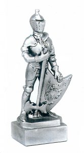 Knight In Armor Sculpture Trophy Mascot