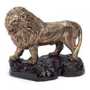 Lion Sculpture Trophy Award Mascot
