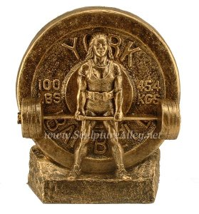Deadlift Trophy Female Weight lifting sculpture Strongman Trophy