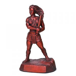 "Female Warrior 16.5"" Weightlifting Powerlifting Sculpture Trophy"