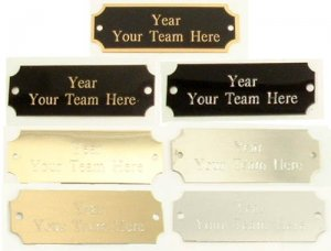 Football Perpetual Trophy Engraved Annual Detail Plate Update