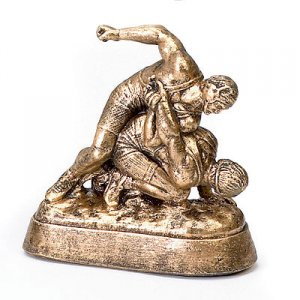 Small Guillotine Wrestling Trophies Sculpture Statue