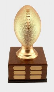 Actual Size Football Fantasy Football Trophy Perpetual # 7