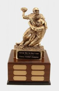 Fantasy Football Trophies # 10 Double Action Players