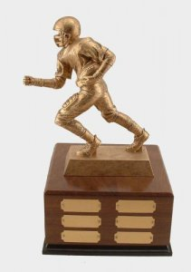 Large Football Runner Fantasy Football Trophies Perpetual # 9