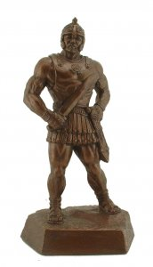 "Gladiator 17.5"" Weightlifting Powerlifting Sculpture Trophy"