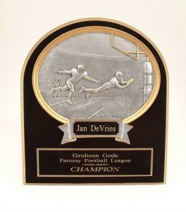 Ultimate Keeper Plaque Fantasy Football Trophies Awards