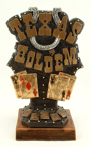Texas Hold em Trophies Poker Sculpture [I33] - $55.00