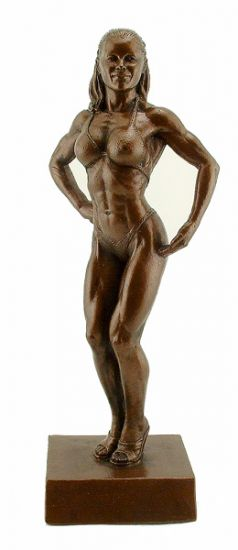 Fitness Figure Trophy 16.5 inch Bodybuilding Sculpture - Click Image to Close