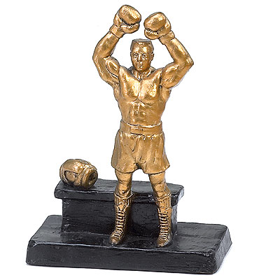 Golden Gloves Boxing Trophy Sculpture Trofeos De Box B99